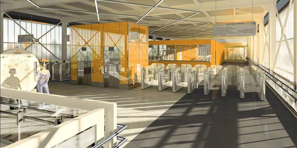 Две станции красной ветки московского метро будут похожи на вокзалы Лондона и Нью-Йорка. Фото mos.ru