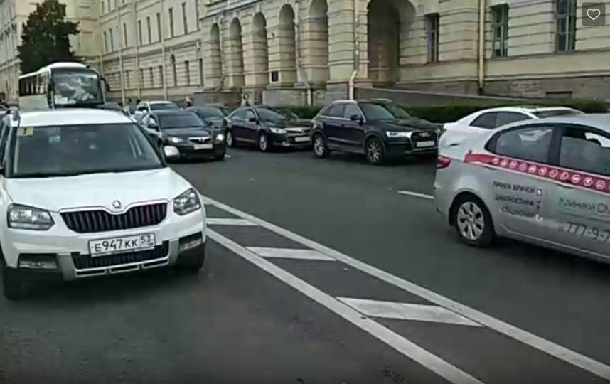В Петербурге активисты провели рейд на велополосах. Фото Петербургское велообщество., vk.com