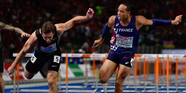 Сергей Шубенков уступил 0,002 секунды Паскалю Мартино-Лагарду на дистанции 110 метров с барьерами.