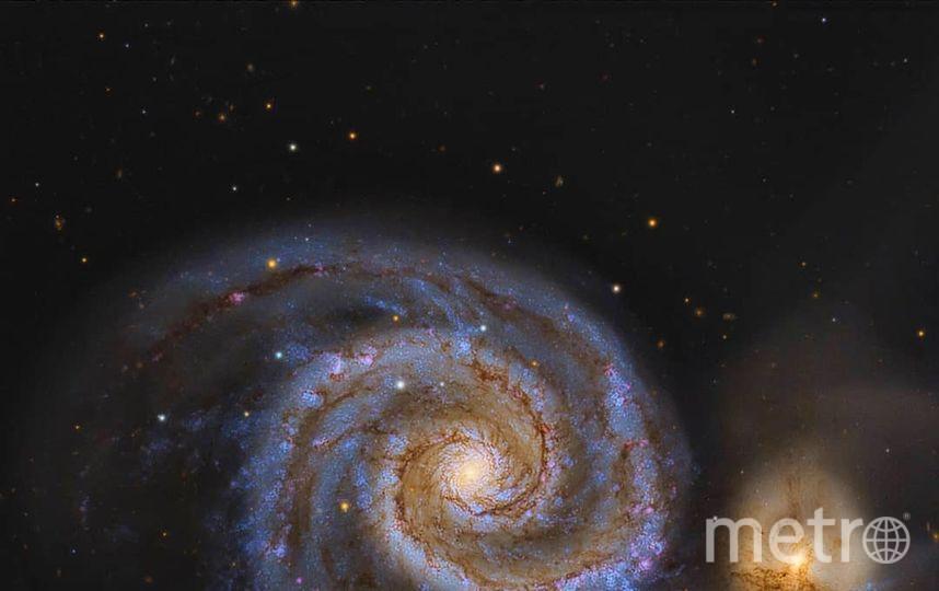 Галактика Водоворот. Фото Скриншот Instagram/cosmic.speck
