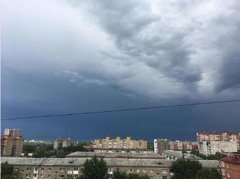 Ураган в Тюмени. Фото instagram/olikdrakoshka
