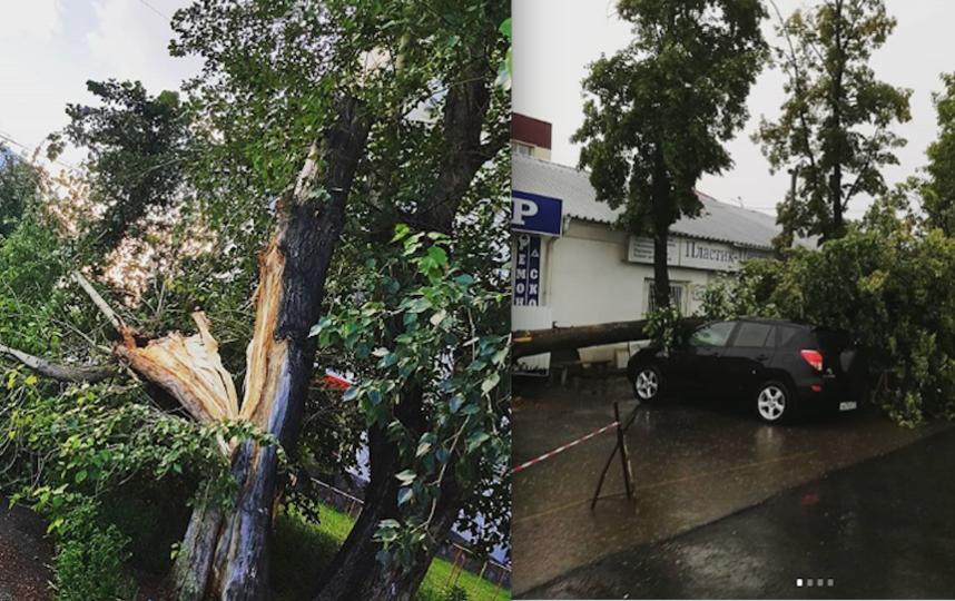 Последствия урагана в Тюмени. Фото instagram/aleksandrzorin72, instagram/maxhayd_1808