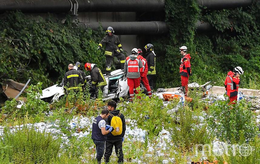 Трагедия в Генуе. Фото Getty