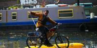 Бизнесмен пытается спасти Темзу от загрязнения с помощью велосипеда