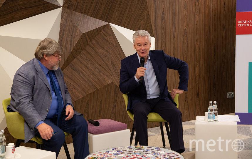Сергей Собянин вместе с главой своего избирательного штаба - Константином Ремчуковым. Фото sobyanin.ru