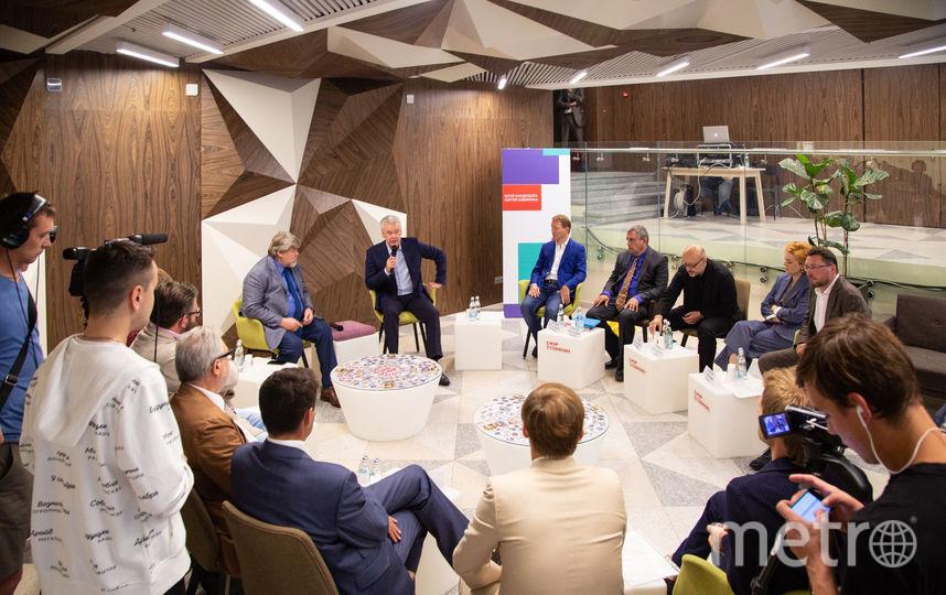 Сергей Собянин на круглом столе с экспертами по благоустройству. Фото sobyanin.ru
