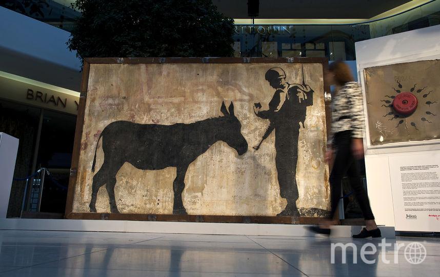 Бэнкси высказался против выставки своих работ в Москве. На архивном фото - работа Бэнкси. Фото Getty