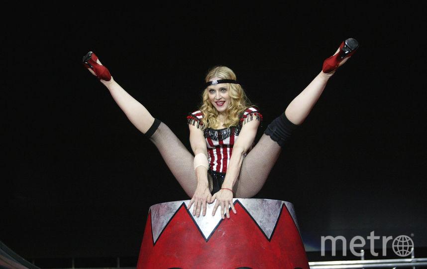 Мадонна во время мирового турне в 2004 году. Фото Getty