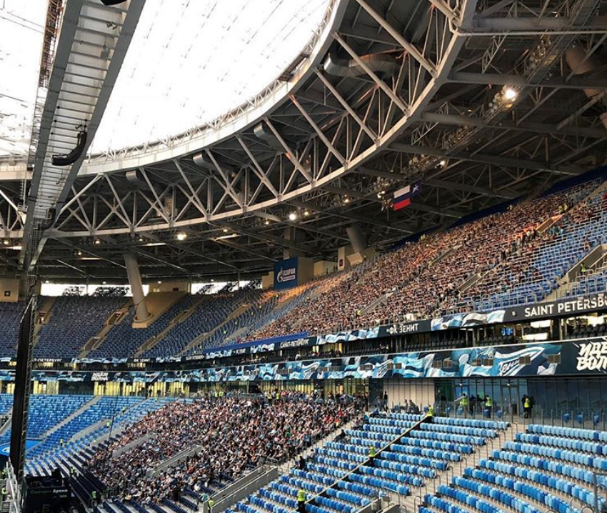 "Матч прошел на стадионе ""Петровский"". Фото instagram.com/zenit_spb"