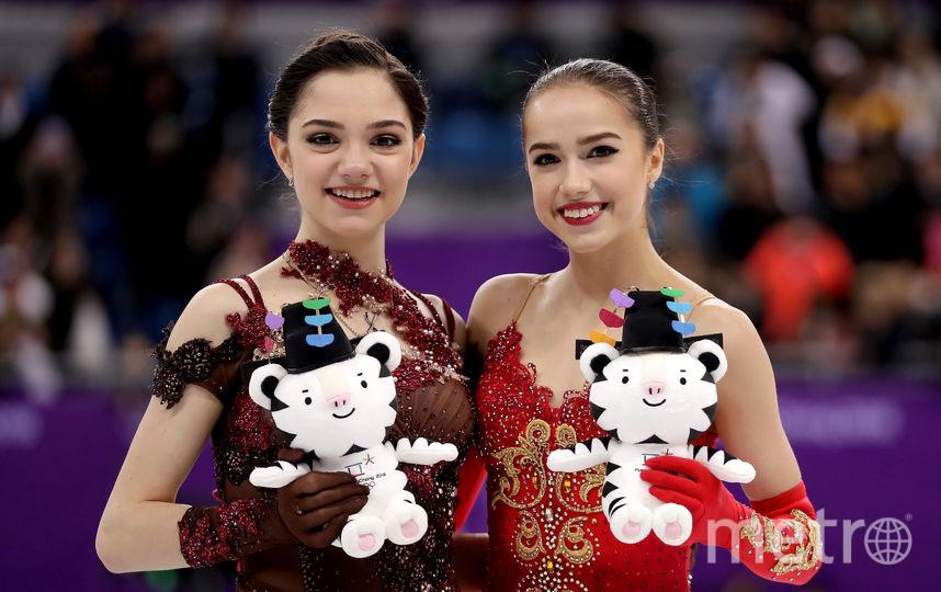 Евгения Медведева и Алина Загитова на Олимпиаде в Пхенчхане. Фото Getty