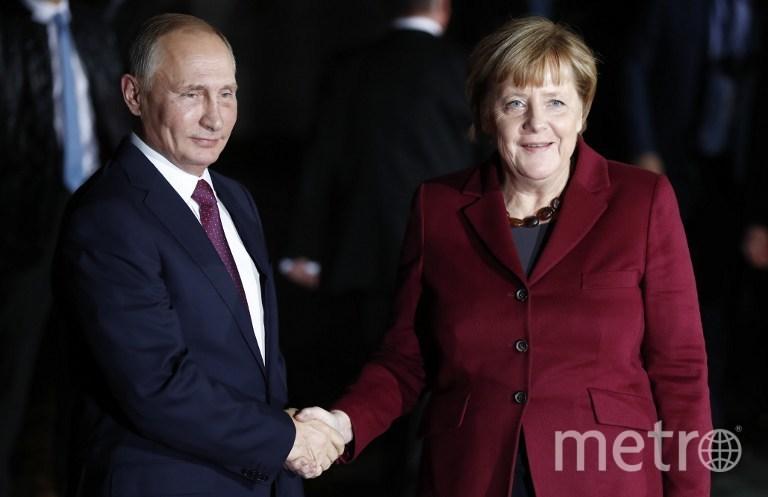 Президент России Владимир Путин и канцлер Германии Ангела Меркель. Фото AFP