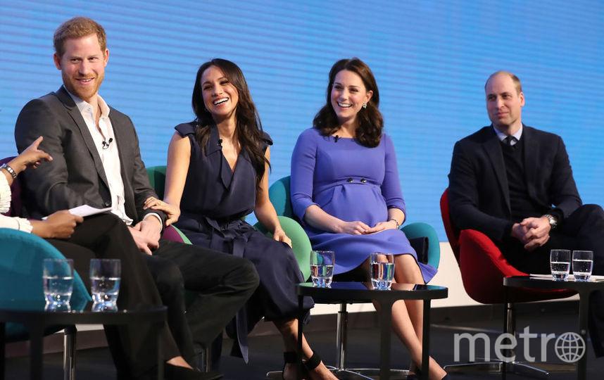 Кейт Миддлтон и принц Уильям, Меган Маркл и принц Гарри, фотоархив. Фото Getty