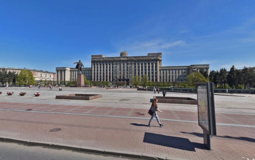 Фонан на Московской площади. Фото скриншот Яндекс.Панорамы.