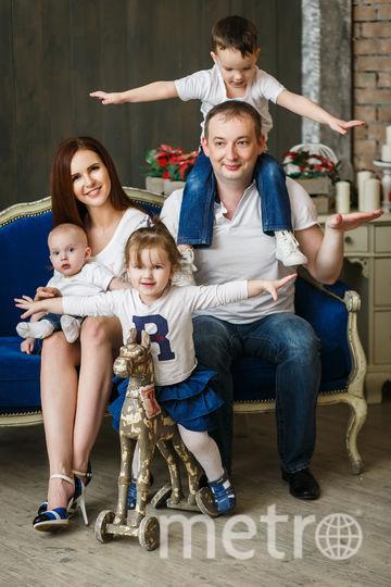 Ксения Андреева с мужем и детьми, фотоархив. Фото предоставлено Ксенией Андреевой.