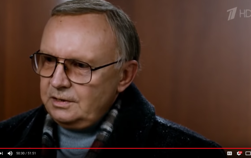 Андрей Мягков. Фото скриншот с официального блога Первого канала на YouTube