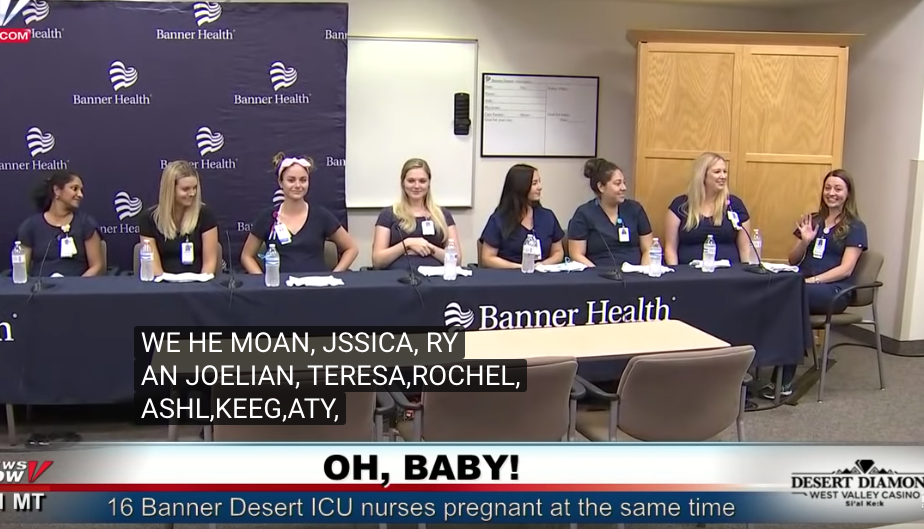 Медсёстры медицинского центра Banner Desert. Фото Скриншот., Скриншот Youtube