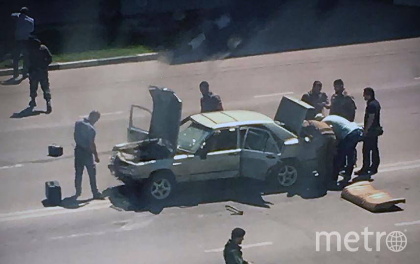 В Чечне напали на полицейских. Фото с места событий. Фото AFP