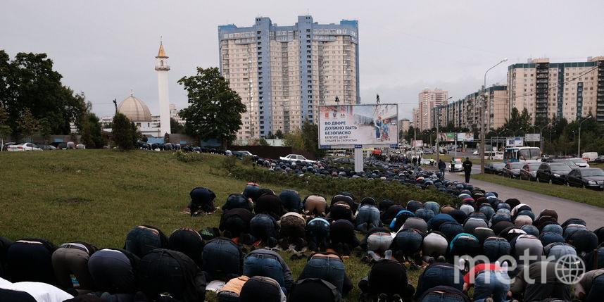 Курбан-байрам в Петербурге отметили тысячи мусульман