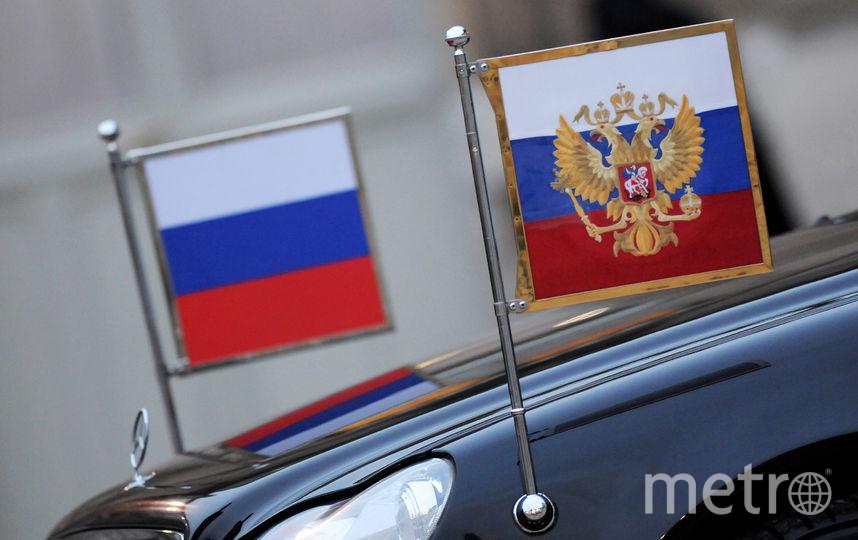 Российский флаг. Фото Getty