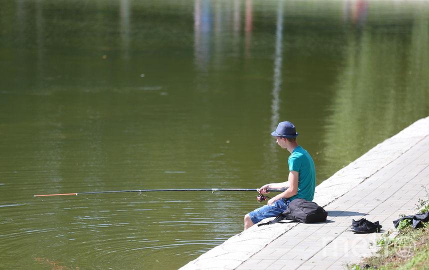 Столичная рыбалка. Фото Василий Кузьмичёнок