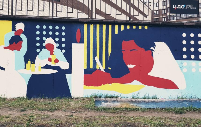 В Петербурге нарисовали 70-метровое граффити с Евгением Онегиным. Фото https://vk.com/yav_zone
