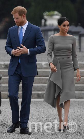 А вот из-за этого наряда Меган получила большую порцию критики. Многие посчитали, что герцогиня Сассекская неудачно выбрала бельё. Фото Getty