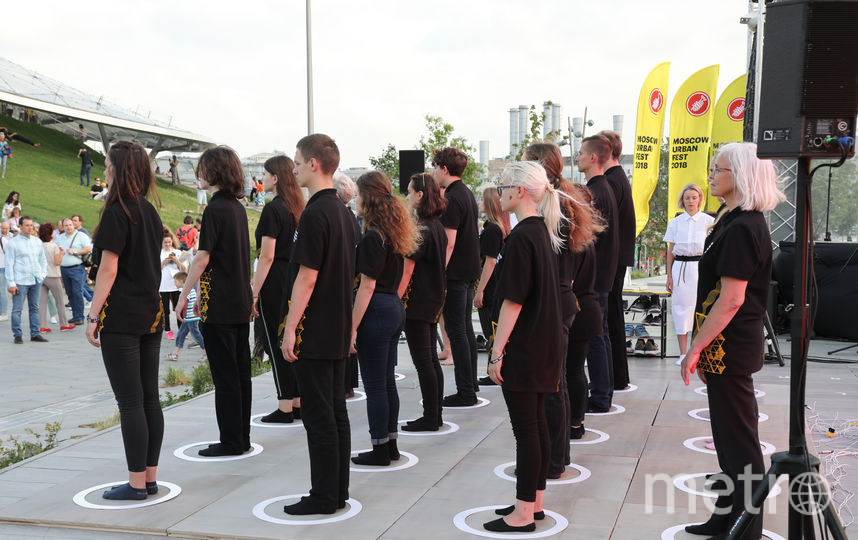 Вот так выглядит музыкальная инсталляция, где в качестве музыкальных инструментов используются люди. Фото Предоставлено организаторами