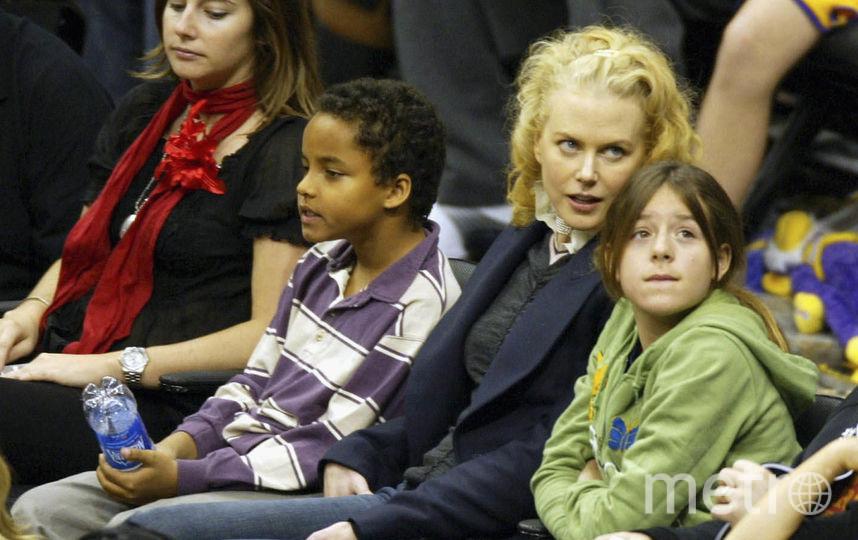 Николь Кидман с детьми. Фото Getty