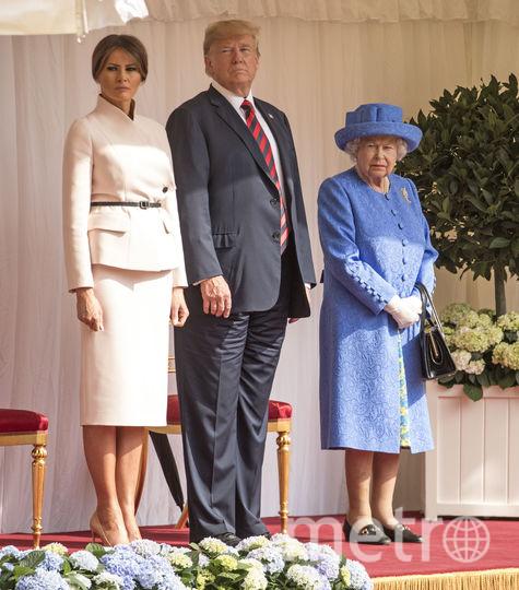Дональд и Мелания Трамп, Елизавета II. Фото Getty