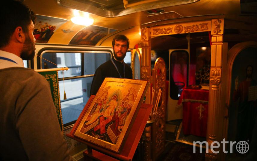 Из Татарстана в Москву приехал храм на колёсах. Фото Василий Кузьмичёнок