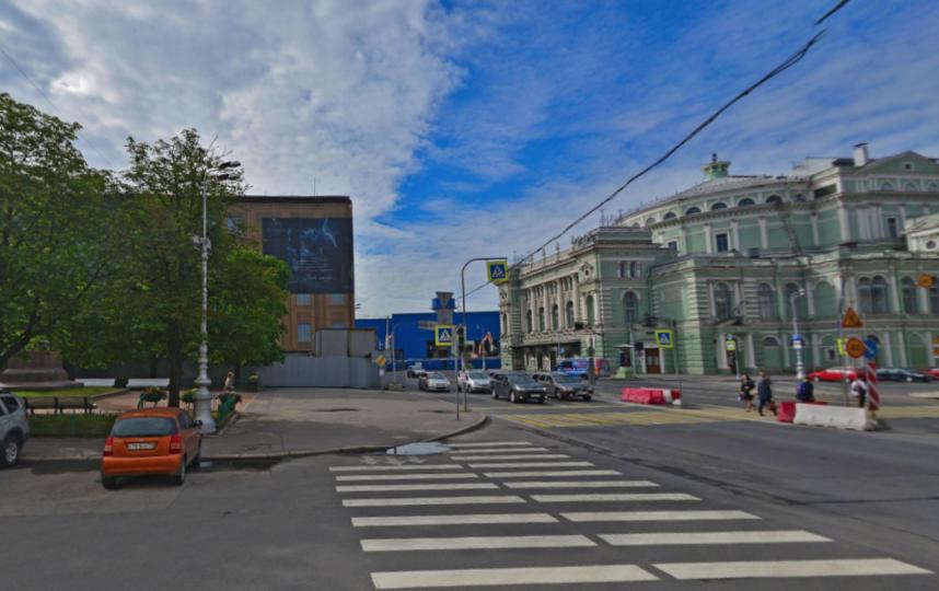 Станция откроется рядом с Мариинским театром. Фото скриншот Яндекс.Панорамы.