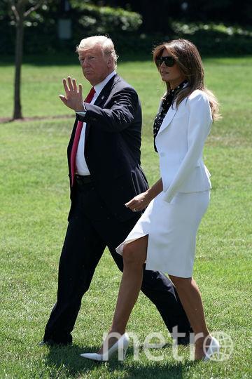 Дональд и Мелания Трамп отправляются в официальную поездку. Фото Getty