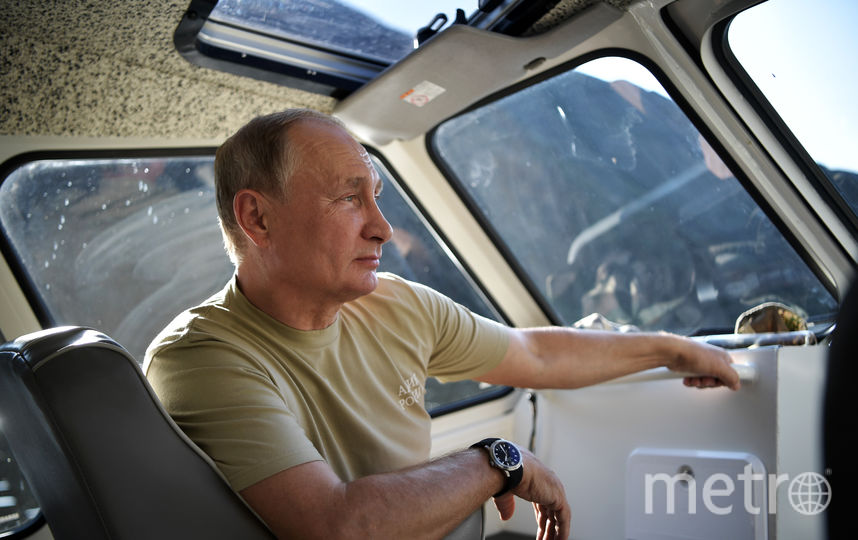 Владимир Путин на отдыхе в Тыве. Фото AFP