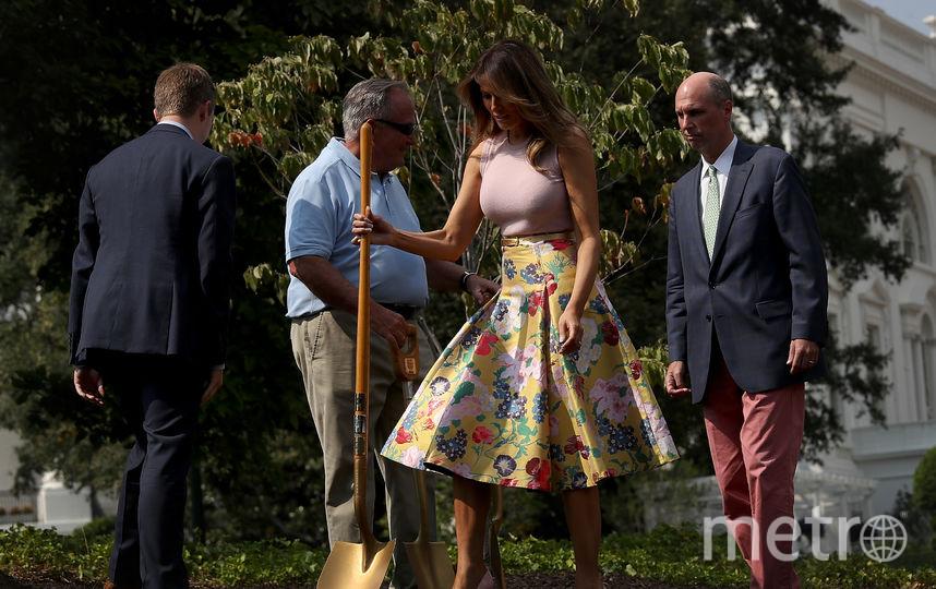 Мелания Трамп посадила дерево у Белого дома. Фото Getty