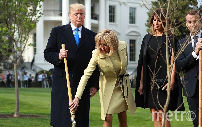 Дуб Мелания Трамп сажала и с президентом Франции. Фото Getty