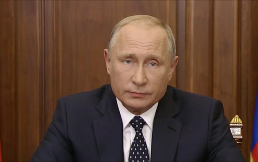"""Президент России Владимир Путин. Фото Скриншот """"Первый канал""""."""