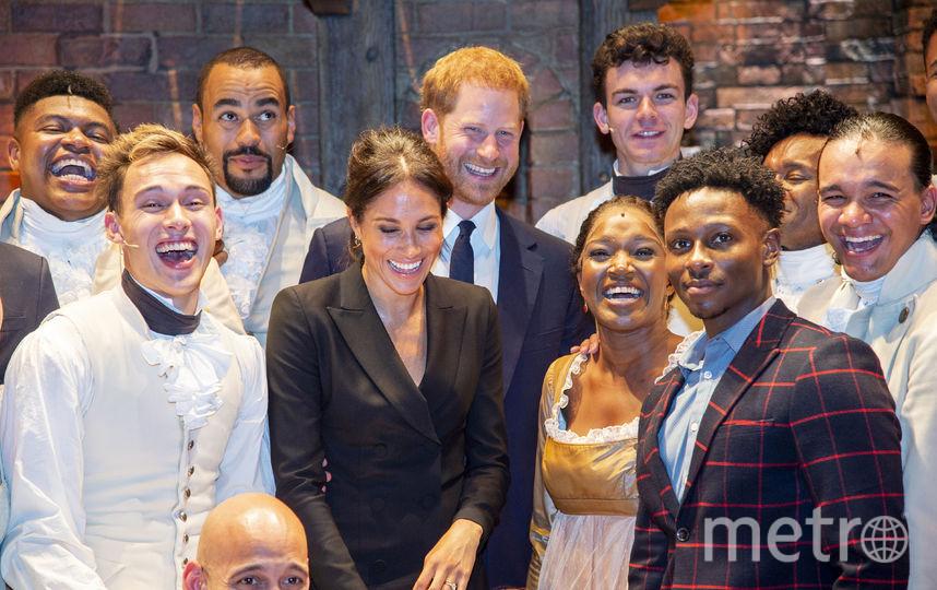 Меган Маркл и Гарри на мюзикле. Фото Getty
