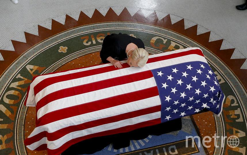 Прощание с Джоном Маккейном прошло в Финиксе. Жена Синди. Фото Getty