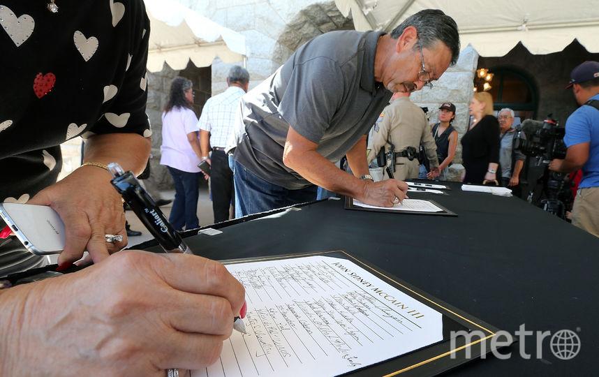 Прощание с Джоном Маккейном прошло в Финиксе. Фото Getty