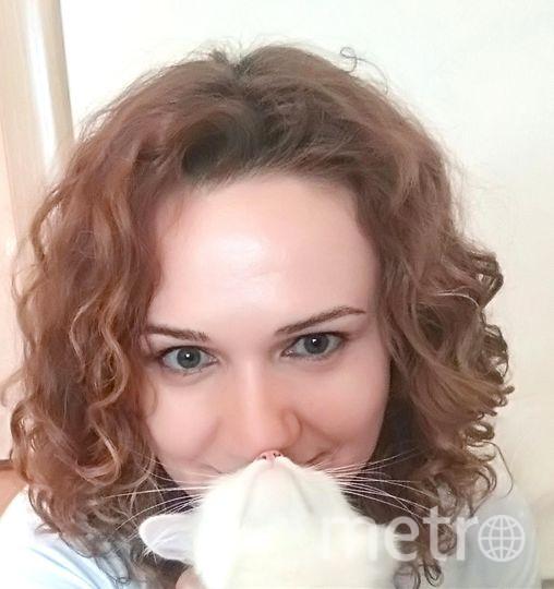 Екатерина и любимая кошка Зефирка. Фото Екатерина