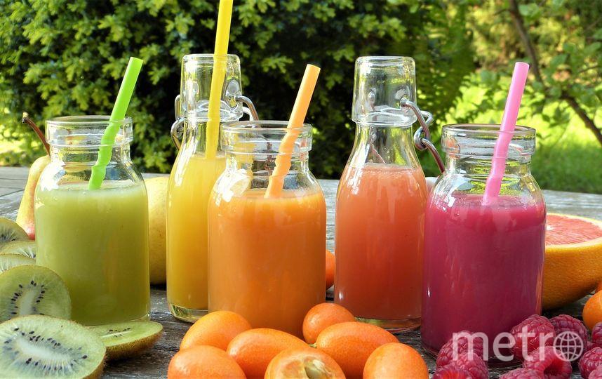 Соки помогут укрепить иммунитет к осени. Фото https://pixabay.com/