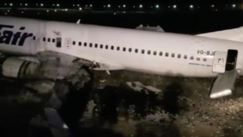 Возгорание Boeing в Сочи: пострадали 18 человек. Фото Скриншот Youtube