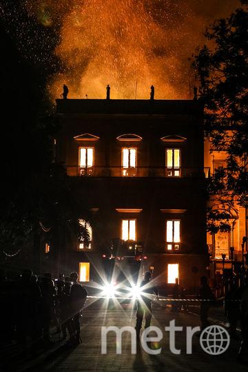 Пожар в Национальном музее Бразилии. Фото Getty