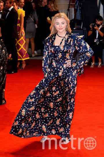 Фото с красной дорожки Венецианского кинофестиваля. Хлоя Морец. Фото Getty