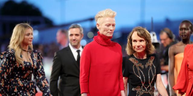 Фото с красной дорожки Венецианского кинофестиваля. Тильда Суинтон.