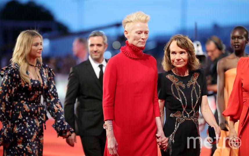 Фото с красной дорожки Венецианского кинофестиваля. Тильда Суинтон. Фото Getty
