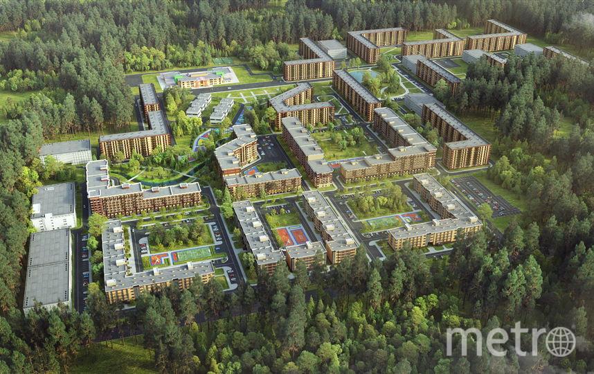 """Масштабность жилого квартала поражает воображение. Фото """"Петрострой"""", """"Metro"""""""