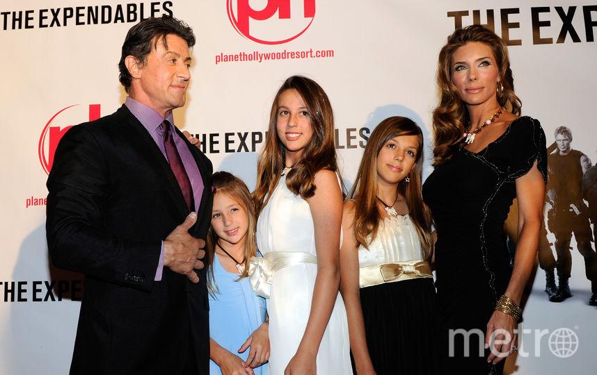 С дочерьми и женой в 2010-м году. Фото Getty