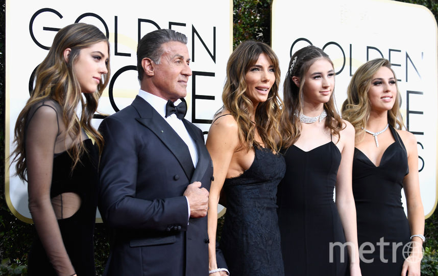 С дочерьми и женой в 2017-м году. Фото Getty