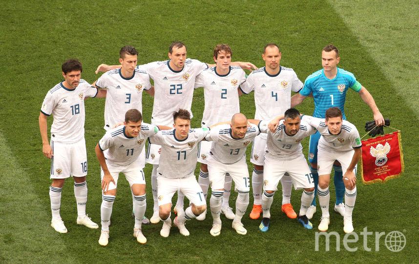 Футболисты сборной России по футболу. Фото Getty